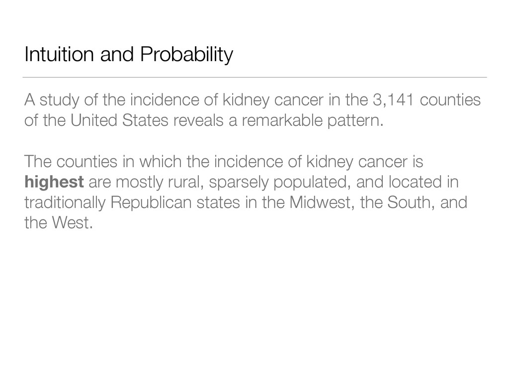Intuition and Probability A study of the incide...