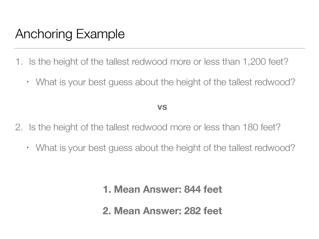 Anchoring Example 1. Is the height of the talle...