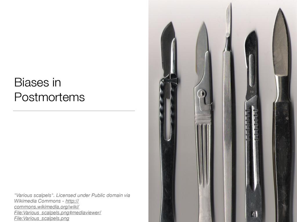 "Biases in Postmortems ""Various scalpels"". Licen..."