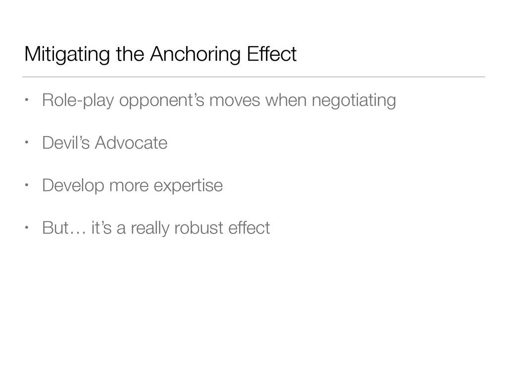 Mitigating the Anchoring Effect • Role-play opp...