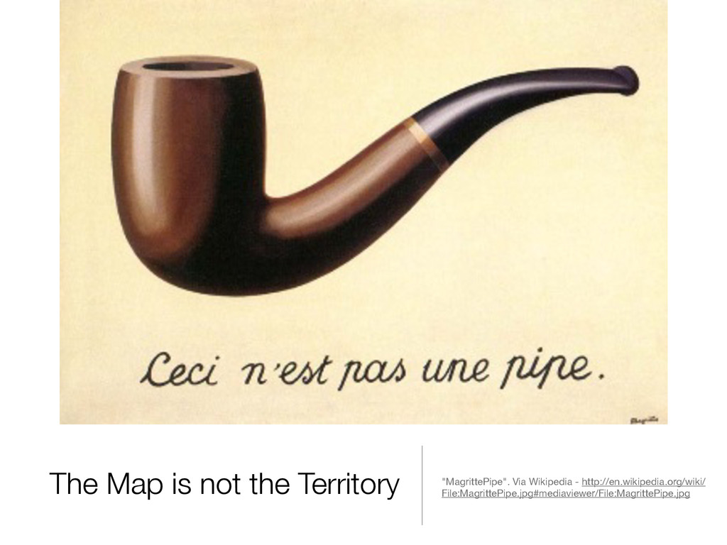 """The Map is not the Territory """"MagrittePipe"""". Vi..."""