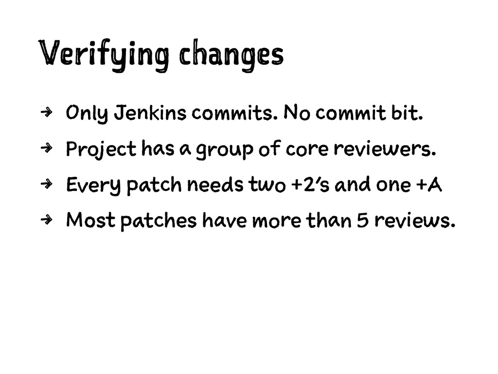 Verifying changes 4 Only Jenkins commits. No co...