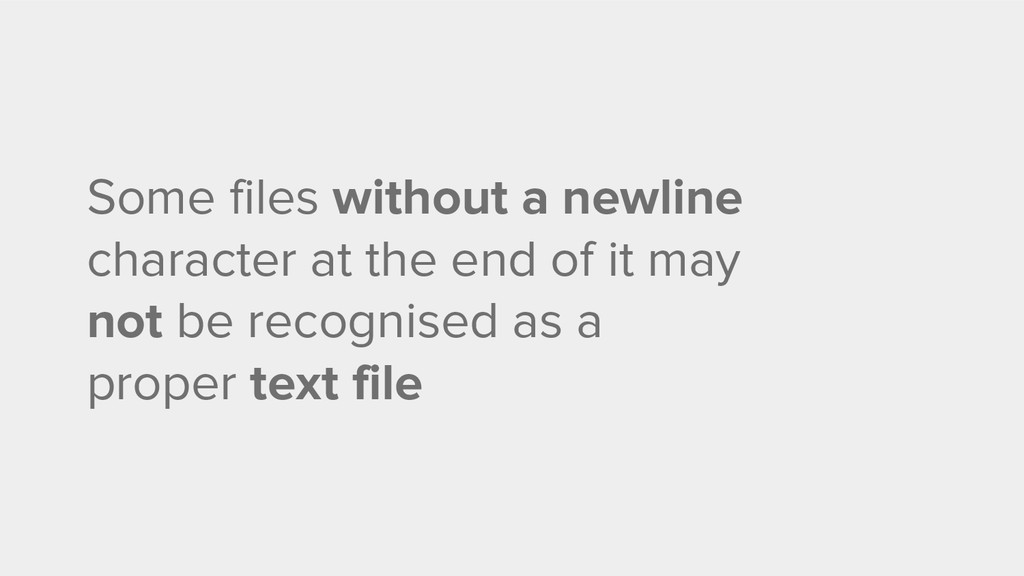 Some files without a newline character at the e...