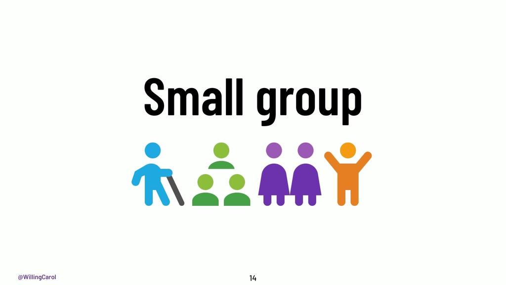 @WillingCarol Small group 14