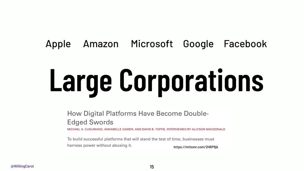 @WillingCarol Large Corporations 15 Google Micr...