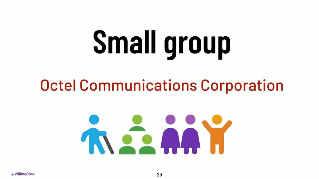 @WillingCarol Octel Communications Corporation ...