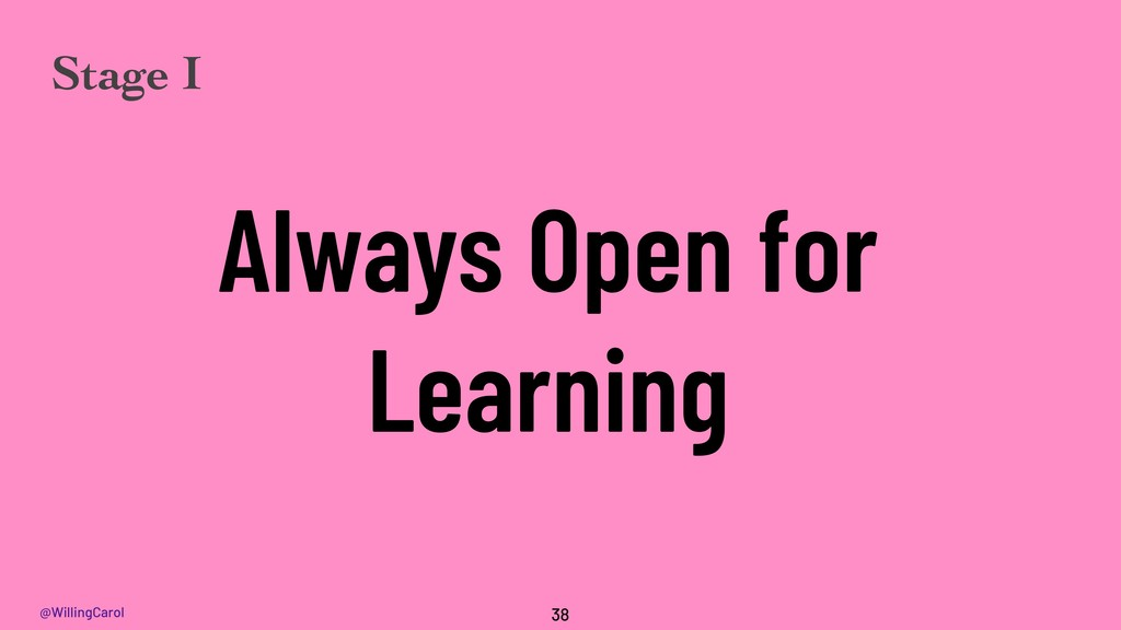 @WillingCarol Always Open for Learning 38 Stage...
