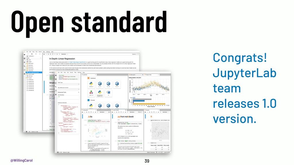 @WillingCarol Open standard 39 Congrats! Jupyte...