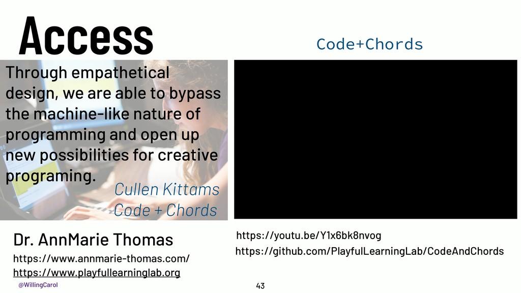 @WillingCarol Access 43 Code+Chords https://you...