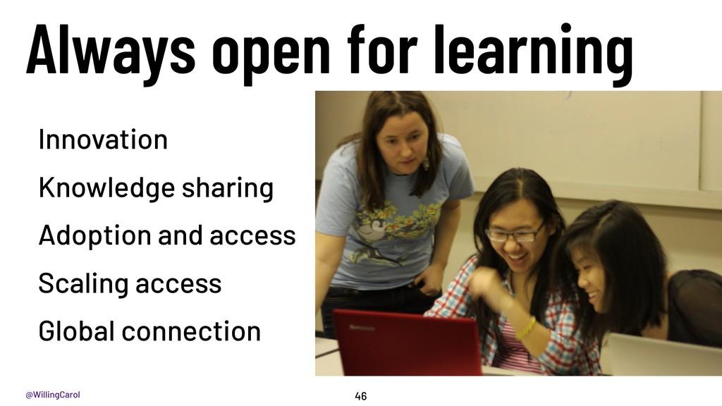 @WillingCarol Innovation Knowledge sharing Adop...