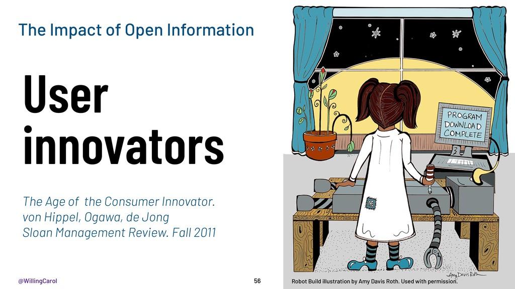 @WillingCarol 56 User innovators The Impact of ...