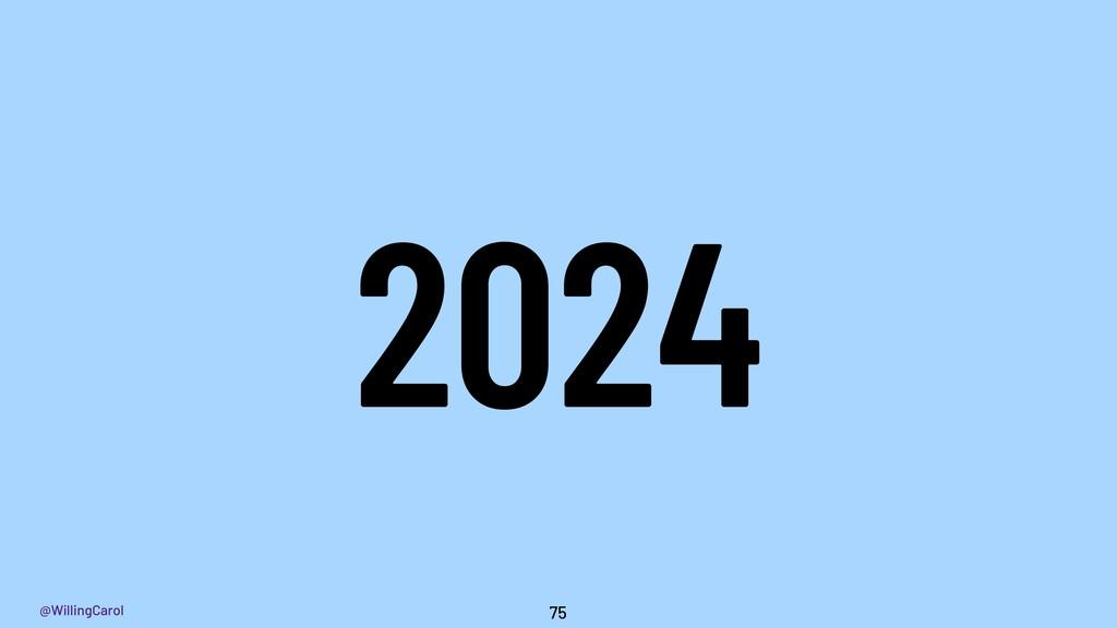 @WillingCarol 2024 75