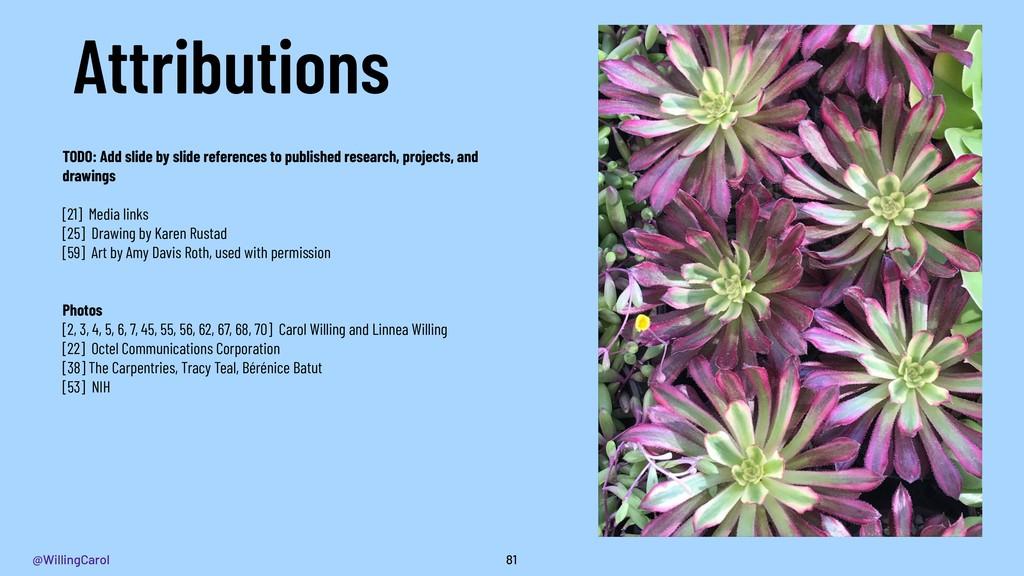 @WillingCarol Attributions 81 TODO: Add slide b...