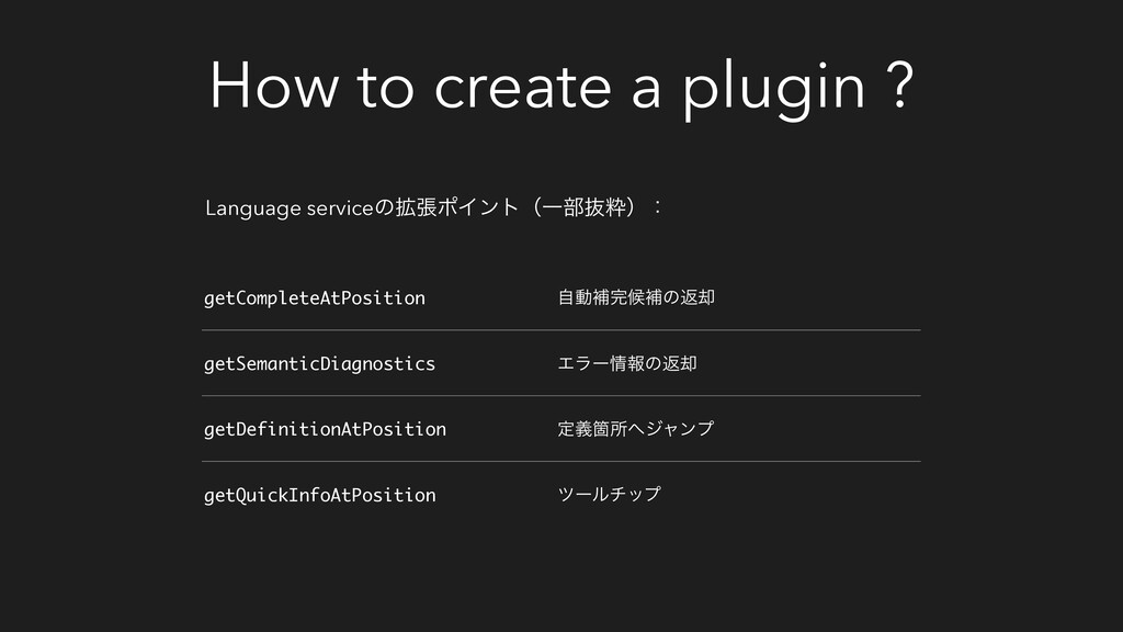 How to create a plugin ? Language serviceͷ֦ுϙΠϯ...