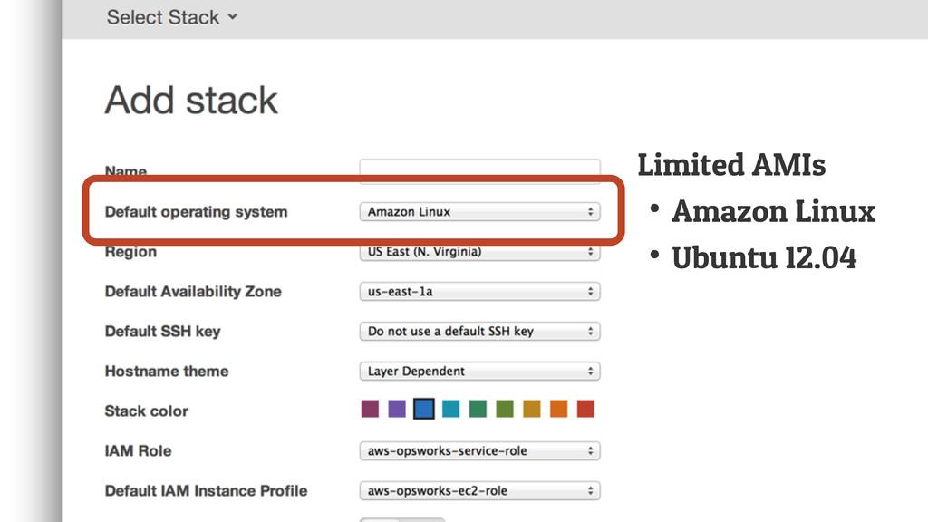 Limited AMIs ↟Amazon Linux ↟Ubuntu 12.04