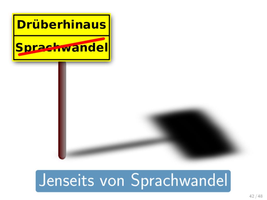 Sprachwandel Drüberhinaus Jenseits von Sprachwa...