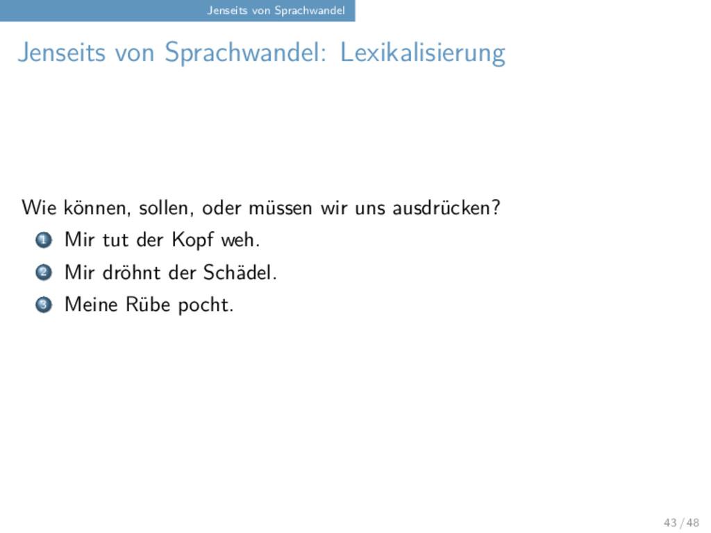 Jenseits von Sprachwandel Jenseits von Sprachwa...