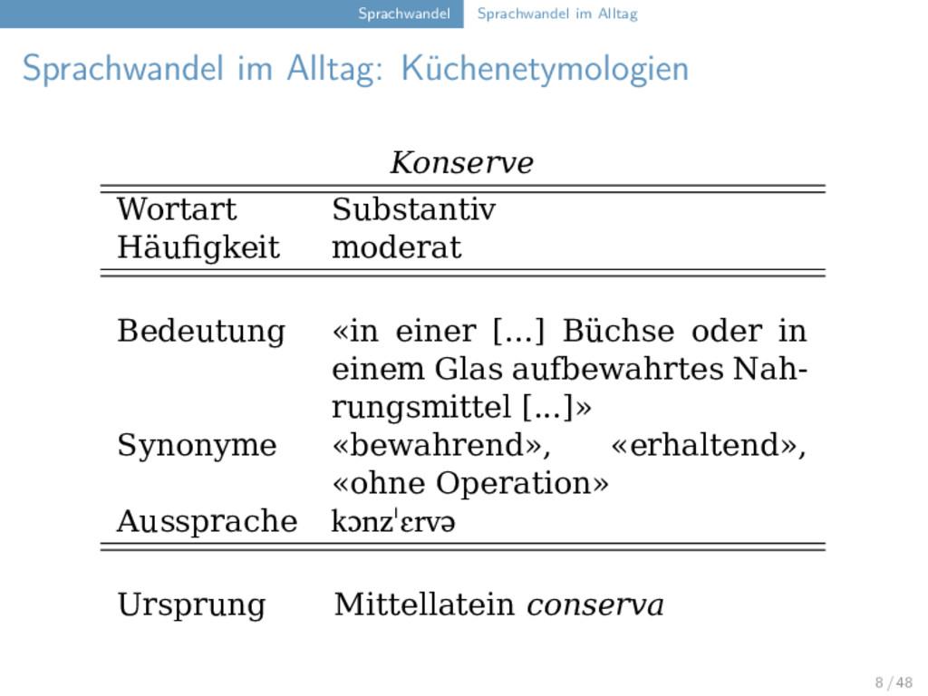 Sprachwandel Sprachwandel im Alltag Sprachwande...