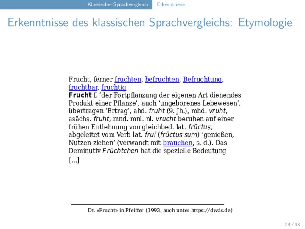 Klassischer Sprachvergleich Erkenntnisse Erkenn...
