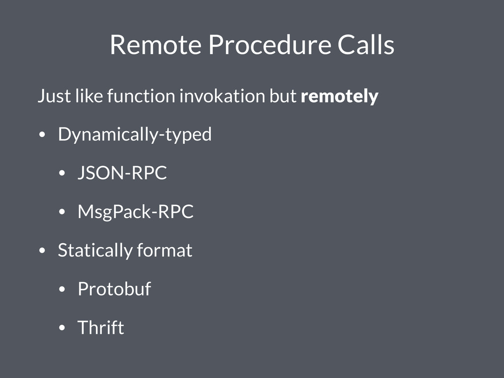 Remote Procedure Calls Just like function invok...