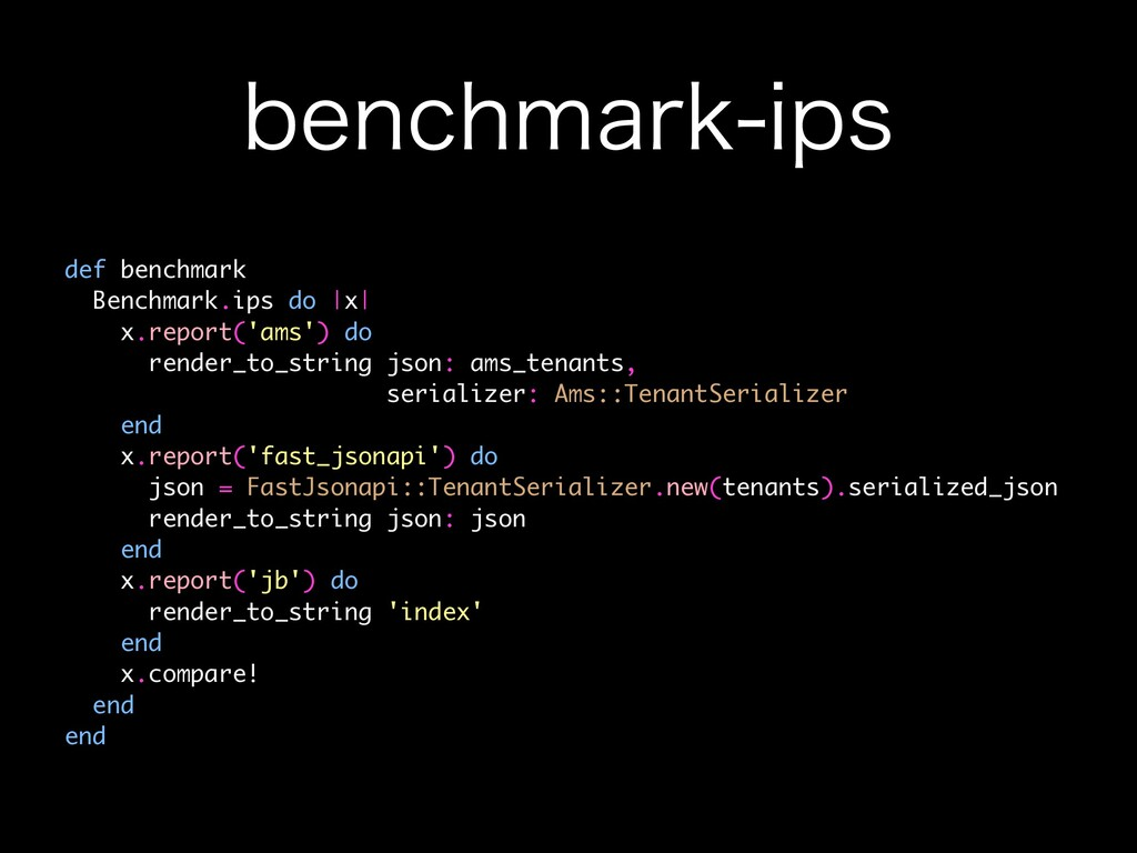 CFODINBSLJQT def benchmark Benchmark.ips do |x...