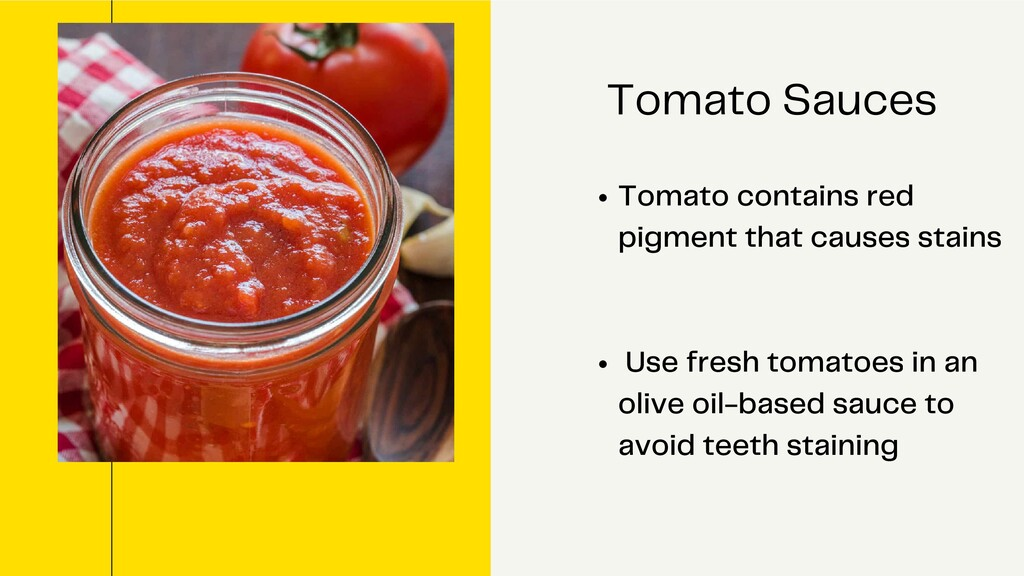 Tomato contains red pigment that causes stains ...