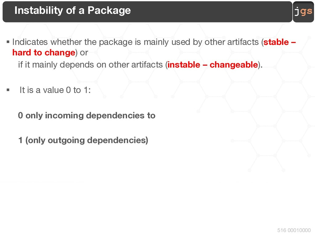 jgs 516 00010000 Instability of a Package § Ind...