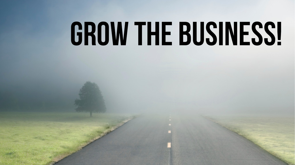 Grow the business!