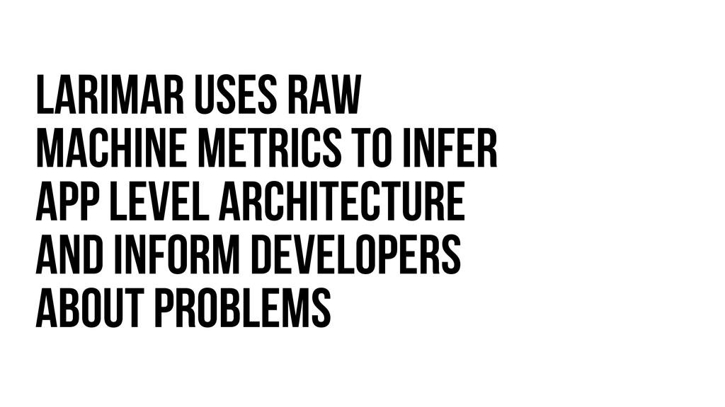 LARIMAR uses raw machine metrics to infer App l...
