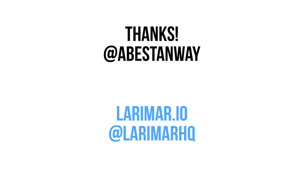 Thanks! @abestanway ! ! larimar.io @larimarhq