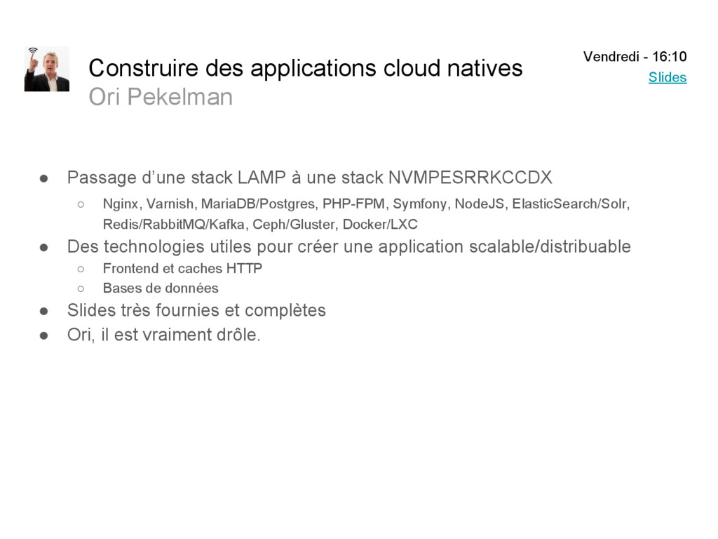Construire des applications cloud natives Ori P...