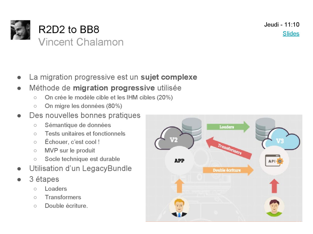 R2D2 to BB8 Vincent Chalamon ● La migration pro...