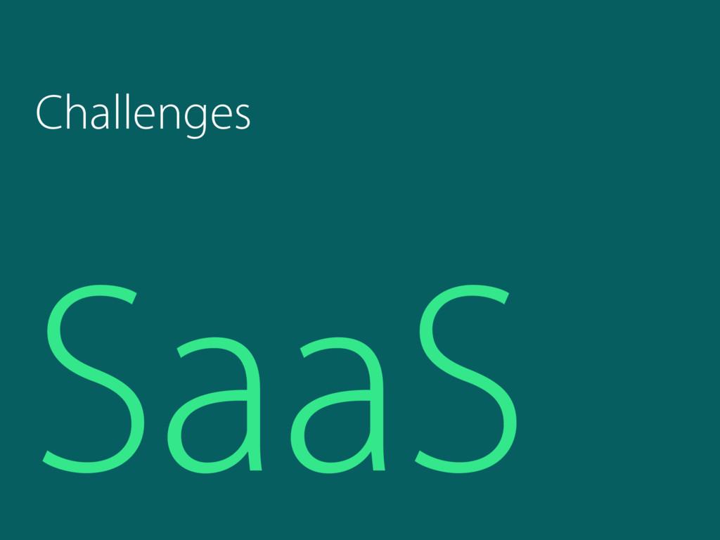 SaaS Challenges