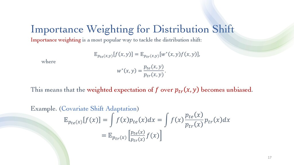 Importance Weighting for Distribution Shift Imp...