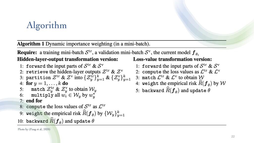 Algorithm 22 Photo by (Fang et al., 2020)