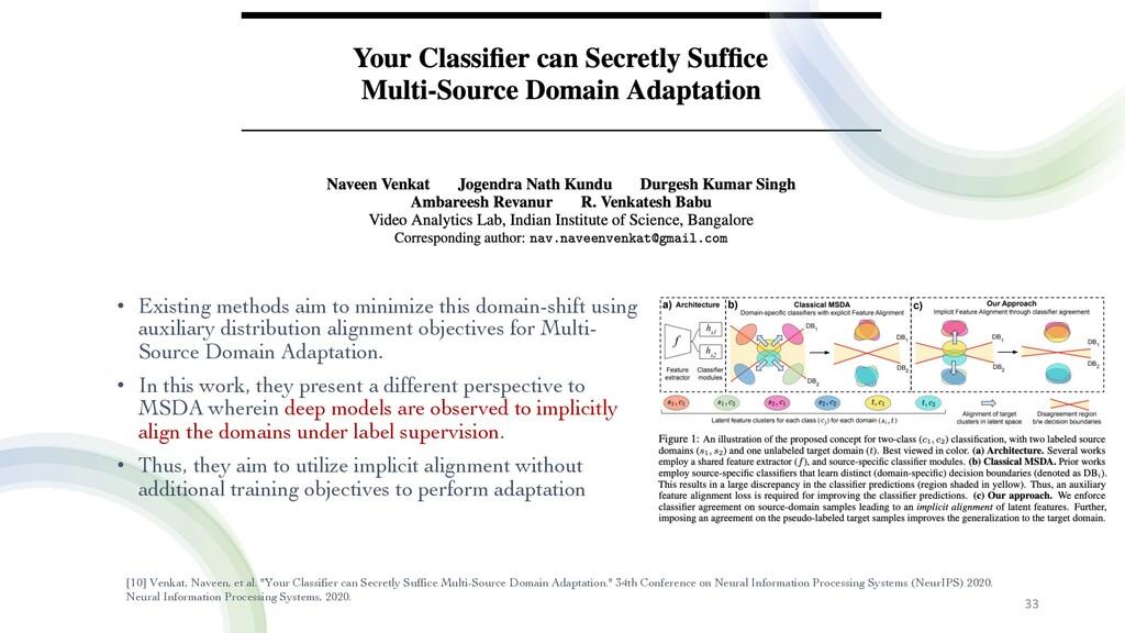 """33 [10] Venkat, Naveen, et al. """"Your Classifier..."""