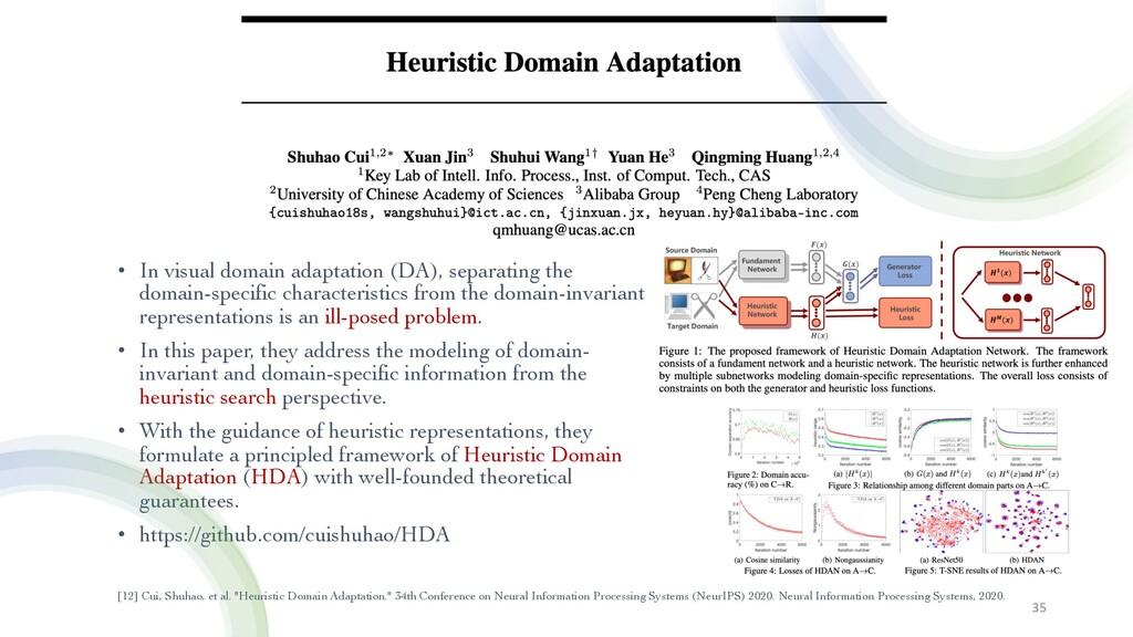 • In visual domain adaptation (DA), separating ...
