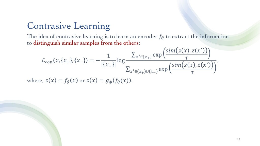 Contrasive Learning The idea of contrasive lear...