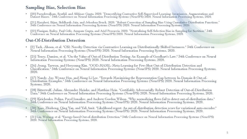 5 Sampling Bias, Selection Bias • [20] Purushwa...