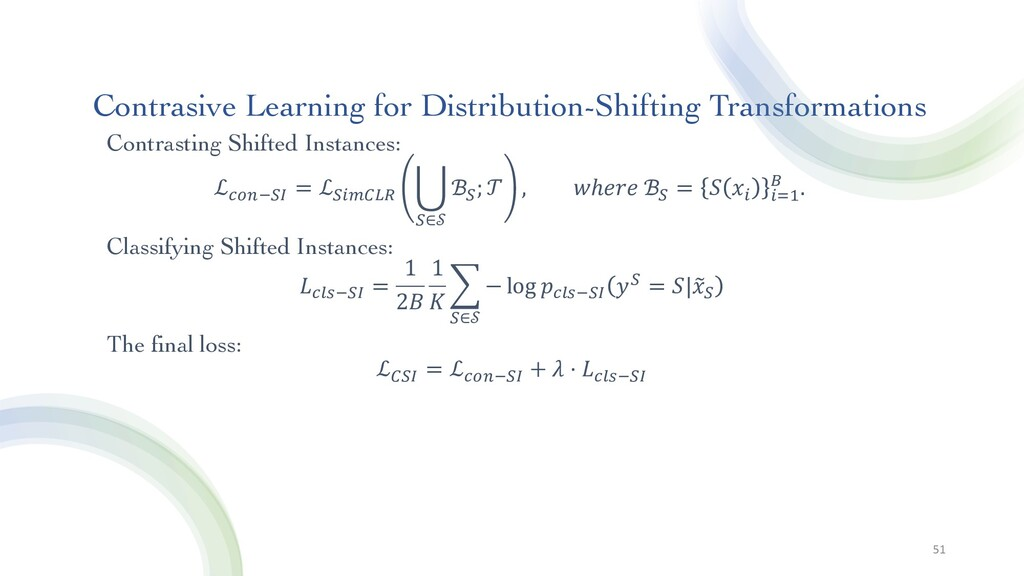 Contrasive Learning for Distribution-Shifting T...