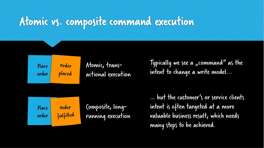 Atomic vs. composite command execution Place or...