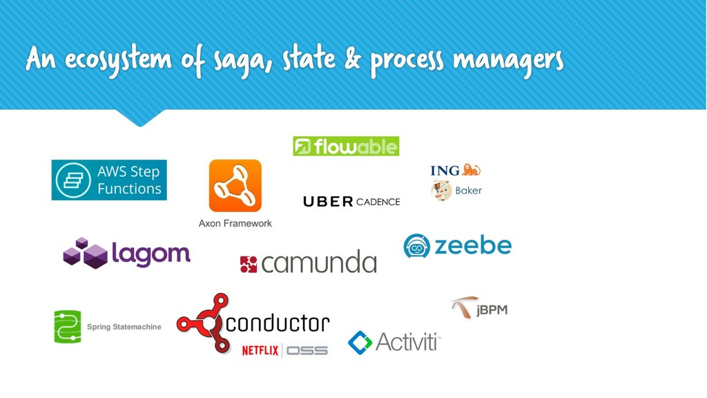 An ecosystem of saga, state & process managers ...