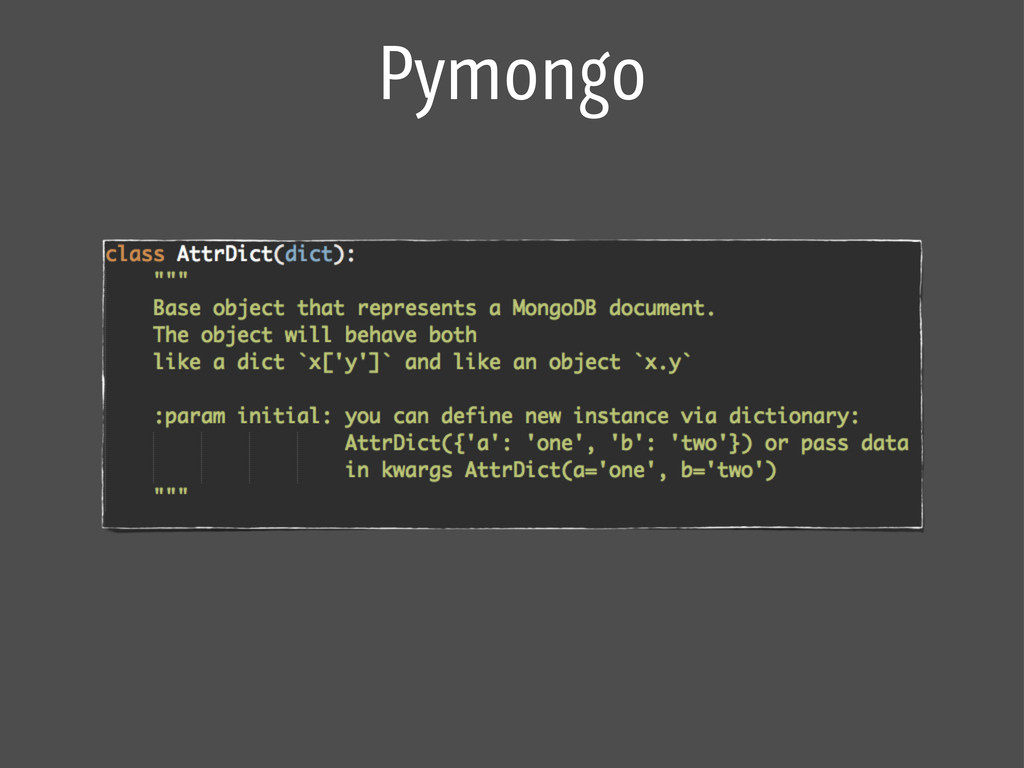 Pymongo