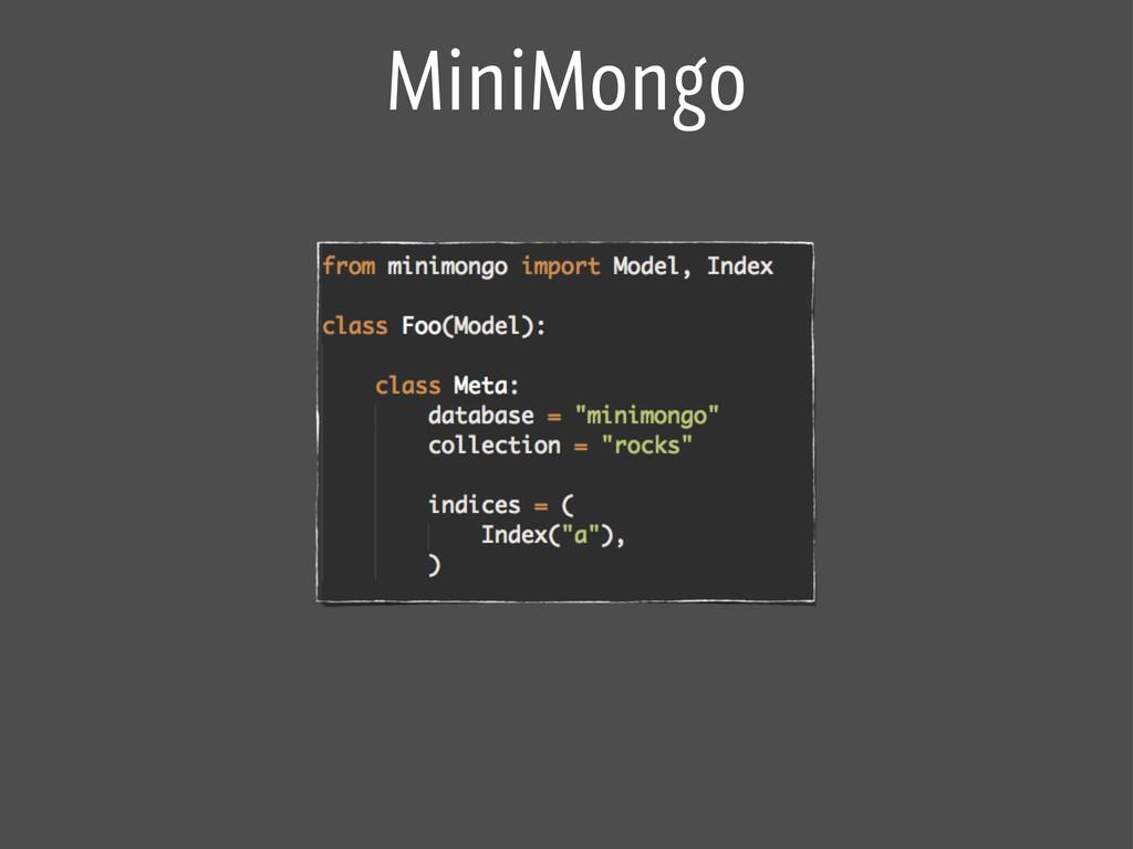 MiniMongo