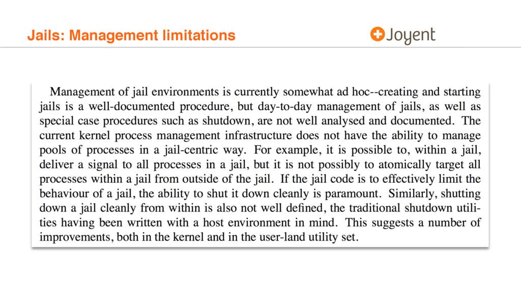 Jails: Management limitations