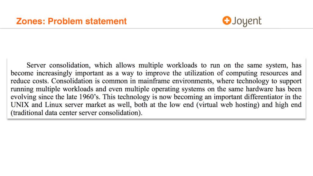 Zones: Problem statement