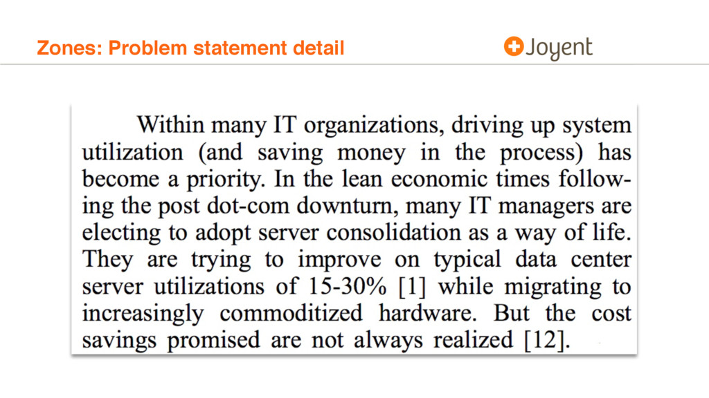 Zones: Problem statement detail