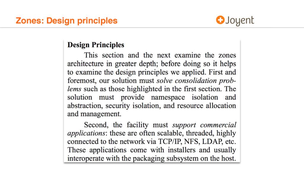 Zones: Design principles