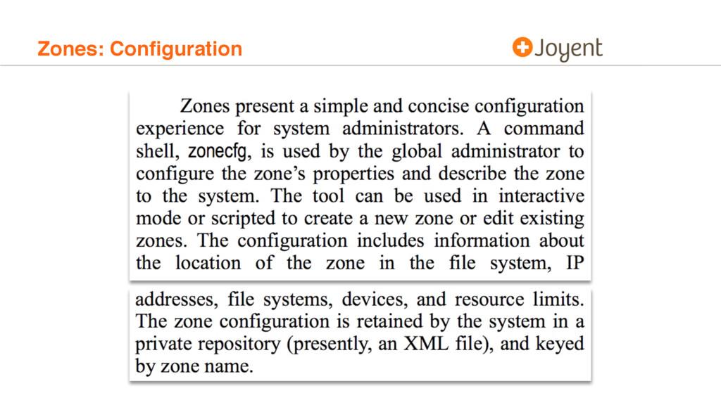 Zones: Configuration