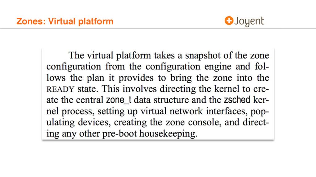 Zones: Virtual platform
